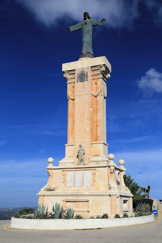 Statue auf dem Monte Torro