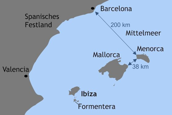 Insel Menorca Karte.Geografie Menorcas