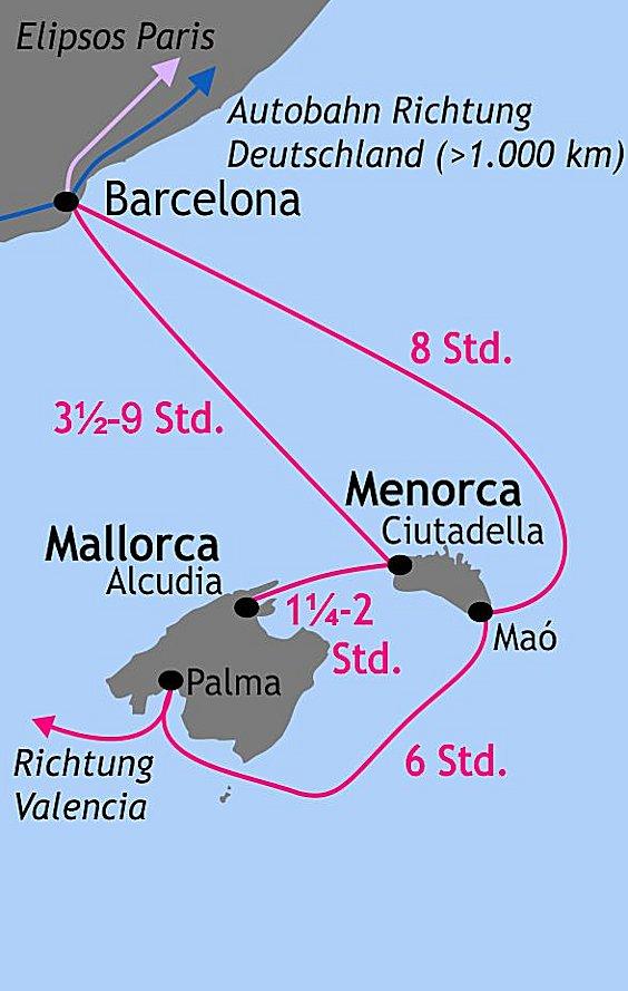 Fährverbindungen nach Menorca